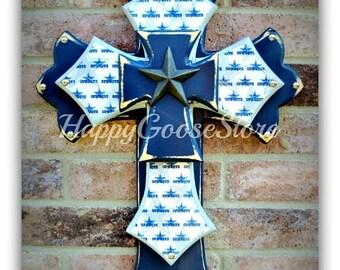 Wall Cross - Wood Cross - Medium - Dallas Cowboys - Football - NFL
