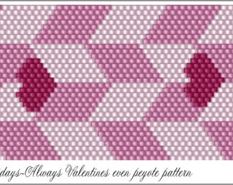 Holidays-Always Valentine's Day 2017 Bracelet Pattern .PDF File