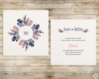 Feather - lunch/Brunch - wedding invitation wedding Invitation collection