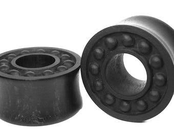 Nordic Ebony black Ear Tunnel 03 Handmade Gauges/Stretchers/Custom Made Ear Tunnels sizes10mm-40mm