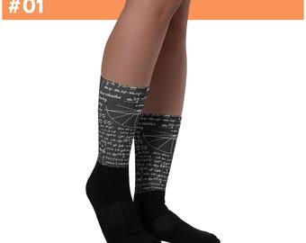 Math lover - Math Teacher Gift - Math Equation Cool Quadratic Formula Geek Nerd Socks - Math Socks - gift for math nerd
