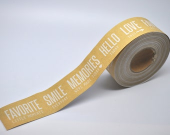 SALE KRAFT Tape - 10 yards - Gift Wrap - Packaging - Paper Tape - Kraft wedding - Packaging - Merchandise packaging