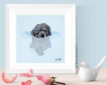 Choice of KiniArt Doodle Dog Art PRINT Signed Reproduction