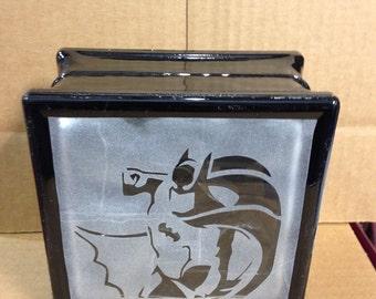 Batman glass block