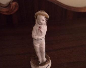 Vintage Bisque Boy Figure Figurine