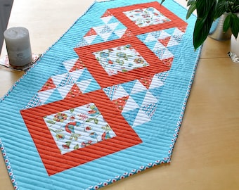 Table Runner Kit in Dutch Treat Fabrics from Riley Blake - Quilted Tablerunner, Craft Kit