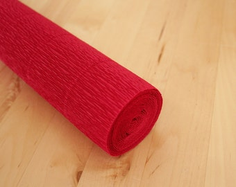 Camino Red Italian Florist Crepe Paper Rolls 180 gms (50 x 250 cm) - Gift Florist Wrap Packaging Craft Party Decor Supplies