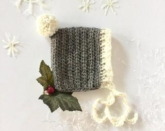 Winter Baby Bonnet Crochet PATTERN - Pom-Pom - Winter Baby Bonnet Crochet PATTERN - Color Me Happy Winter Baby Bonnet