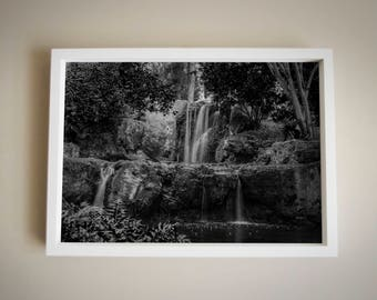 Waterfall | Black and White | Digital File | Photography | Home Decor |
