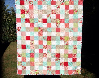 Shabby Chic Patchwork Quilt (#302)