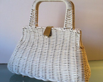 Vintage  Made in Hong Kong  Wicker Purse