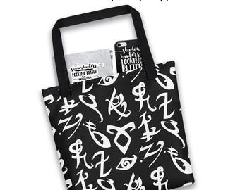 Shadowhunters, Tote Bag, Angelic Runes, Mortal Instruments, Infernal Devices, Dark Artifices, Shadowhunters Gift, Jace, Cassandra Clare