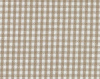 "HALF YARD - 1/16"" British Tan Fabric Finders Gingham"