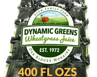 Wheatgrass Juice | 400 Fluid Ozs | 1.45 Per Shot | Field Grown | Unpasteurized | Since 1972