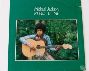 "Michael Jackson  Music & Me - ""With a Child's Heart"" - ""All the Things You Are"" - Soul - Motown Records 1973 - Vintage Vinyl LP Record Album"
