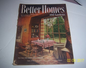May 1949 Better Homes & Garden Magazine Dining Kitchen Furniture Paper Ephemera