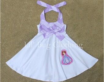 Sofia The First Chevron Halter Dress, Sofia The First Outfit, Sofia The First Birthday Dress, Sofia The First Lavender Summer Dress