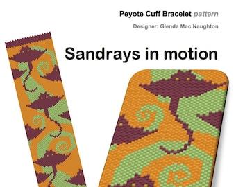 Sandrays in Motion peyote bracelet Instant Downloadable Pattern PDF File
