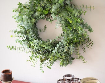 Baby Eucalyptus Wreath | Winter Wreath | Eucalyptus Winter Wreath | Handcrafted Eucalyptus Wreath | Fragrant Eucalyptus Wreath | Lush Wreath