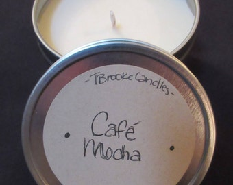 Hand Poured Soy Candles / 6 Ounce Tin / 8 Ounce Tin / Scent Soy / Handmade / Cotton Wick / TBrookeCandles