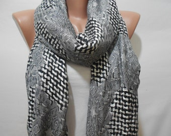Mothers Day Gift For Her Gray Scarf Shawl Cowl Scarf Men Scarves Fashion Accessories Gift For Him Gift For Mom Holiday clothing gift