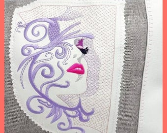Embroidery file star Woman-different in 3 sizes, embroidery motif, embroidery, embroidery pattern, embroidery file