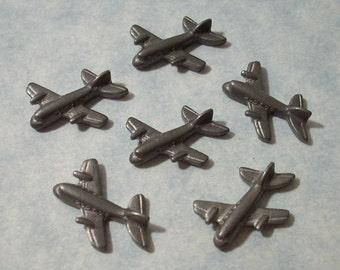 6 Vintage Cast Metal Airplanes