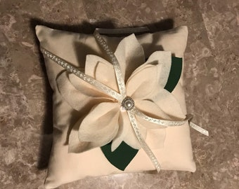 Off White ring bearer pillow