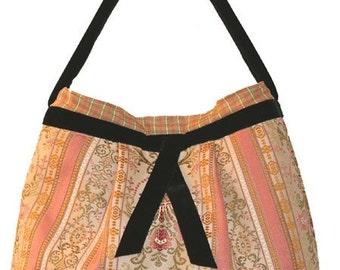 "Handbag, feminine, pleated tote, big enough for all your daily goodies, ""Sanibel"""