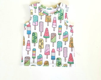 Popsicles tank top. Baby or toddler up to 5T
