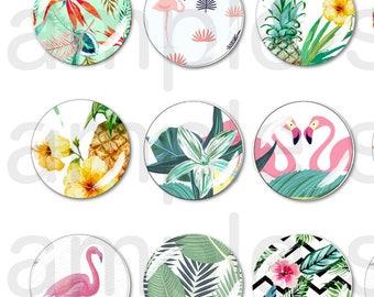 45 Digital Tropical Images 25mm
