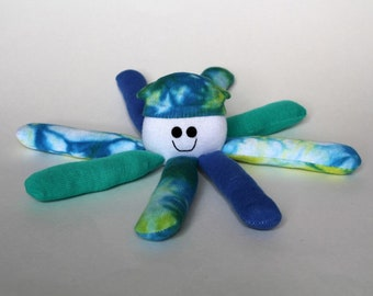 Socktopus Octopus Toy - Blue Green Tie Dyed