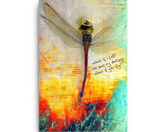 "Canvas art, prints for framing, print art, mixed media art, wall art, wall decor, art, DragonFLY!, 24""x 36"""