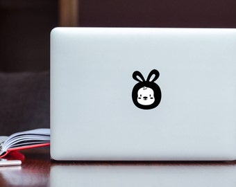 Cute Bunny glowing Apple MacBook Decal / Laptop Decal / iPad Decal vinyl  sticker