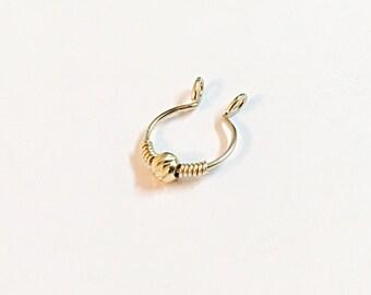 Fake Septum, Fake Piercing, Fake Nose Ring, Fake Nosering, Fake Septum Ring, Fake Septum Jewelry, Fake Septum Piercing , Septum Gold, Septum