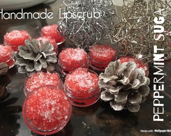 "1OO% all natural handmade Lip scrub! In our refreshing flavor ""Peppermint suga""."