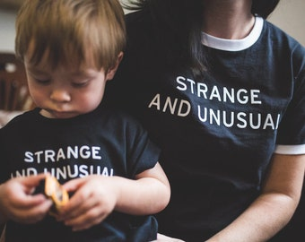 Strange & Unusual Kids Shirt - Baby Weirdo Shirt - Beetlejuice - Black Toddler Shirt - Lydia Deetz, Goth Baby, Punk Baby, Punky Moms PMUK