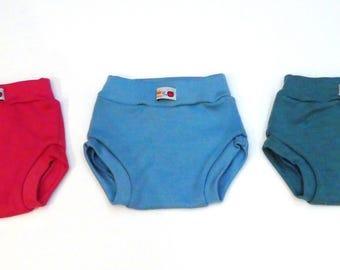 Shorties 100% merino wool Cloth diaper cover - soakers