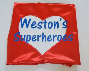 Adult Custom Superhero Cape with 1 or 2 words plus shape!