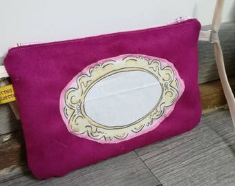 """The cover of the Moon, my first """"mirror"""" suede handbag"""