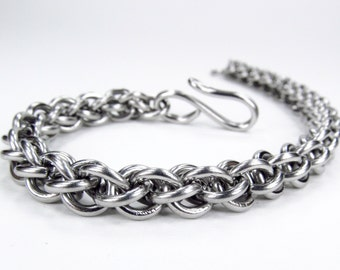 Chainmaille Bracelet - Jens Pind Pattern - Thick