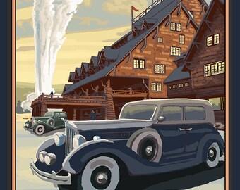 Old Faithful Inn - Yellowstone National Park (Art Prints available in multiple sizes)