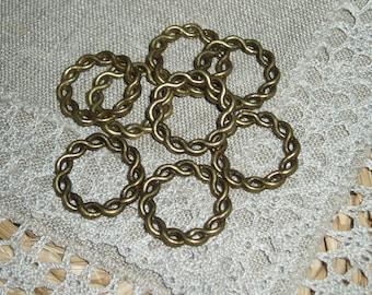 10Pcs Bronze Srew Ring connector 20mm Diameter