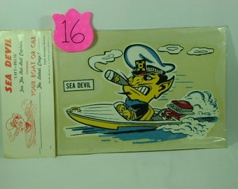 1950's Sea Devil water decal