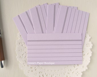 Lavender Purple Mini Index Cards {24} - Use in Your Planner, Erin Condren, Filofax, Travelers Notebook, Journal, Stationery, Memory Keeping
