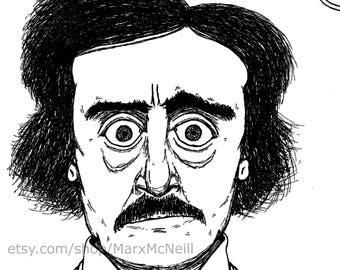 Edgar Allan Poe (B&W)