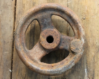 Knitting Wheel Casting Off : Wagon axle thimble skein rusty cast iron wooden wheel hub