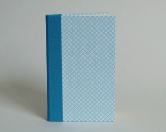 Phone book address book, 80 pages. Japanese paper, blue and gold Kanoko pattern cover