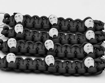 550 Paracord Vest Extenders with Skulls - Set of 2, 4 or 6 - Lightweight and Strong