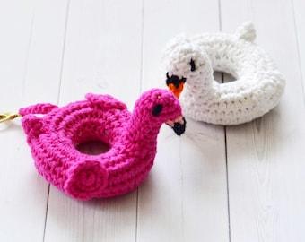 Flamingo Pool Float Crochet Pattern / Swan Pool Float crochet pattern / crochet pool float pattern / Crochet flamingo / Crochet pdf pattern